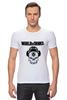 "Футболка Стрэйч (Мужская) ""Skull WOT "" - skull, череп, games, игры, игра, game, логотип, world of tanks, танки, wot"
