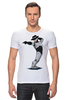 """Футболка Стрэйч """"Robocop x Jackson"""" - пародия, майкл джексон, mj, робокоп, robocop"""