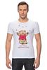 """Футболка Стрэйч (Мужская) """"Happy Valentnine's Day"""" - медведь, день святого валентина, мишка, обними меня, hug me"""