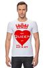 "Футболка Стрэйч (Мужская) ""My queen in my heart"" - сердце, любовь, heart, корона, королева"