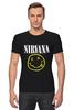 "Футболка Стрэйч ""Nirvana "" - гранж, супер, арт, nirvana, стиль, kurt cobain, логотип"