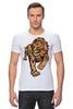 "Футболка Стрэйч ""The Lion King"" - арт, стиль, лев, lion"