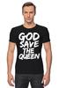 "Футболка Стрэйч (Мужская) ""God Save the Queen (Боже, храни Королеву)"" - англия, панк, england, sex pistols"