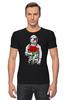 """Футболка Стрэйч (Мужская) """"Букет красных роз"""" - цветы, розы, космонавт"""