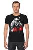 """Футболка Стрэйч """"Носорог Боксёр"""" - спорт, бокс, боксёр, носорог"""