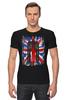 """Футболка Стрэйч (Мужская) """"Доктор Кто"""" - doctor who, uk, доктор кто, британский флаг, тардис"""