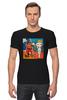 """Футболка Стрэйч (Мужская) """"Basquiat / Баския"""" - граффити, корона, snoopy, basquiat, уличный стиль"""