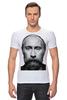 "Футболка Стрэйч (Мужская) ""ВВП с бородой"" - путин, борода, putin, beard"