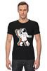 "Футболка Стрэйч ""Музыкальный астронафт"" - музыка, арт, music, плеер, рисунок, космос, astronaut, радио, radio, астронафт"