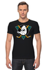 "Футболка Стрэйч ""Mighty ducks"" - nhl, нхл, anaheim ducks, хоккейный клуб"
