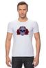 """Футболка Стрэйч (Мужская) """"Мексиканский череп"""" - череп, цветы, крест, тату, мексика"""