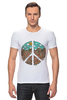 """Футболка Стрэйч """"Pacific"""" - арт, peace, пацифизм"""
