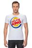 """Футболка Стрэйч (Мужская) """"Король Селфи (Selfie King)"""" - пародия, foto, селфи, selfie, burger king"""