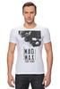 """Футболка Стрэйч (Мужская) """"Mad Max / Безумный Макс"""" - череп, чб, mad max, безумный макс, kinoart"""
