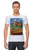 """Футболка Стрэйч """"ретро плакат"""" - ретро, америка, природа, горы, плакат"""