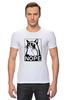 """Футболка Стрэйч (Мужская) """"Сердитый котик / Grumpy Cat (Штамп)"""" - кот, котэ, grumpy, grumpy cat, сердитый кот, унылый кот, грампи, грумпи"""
