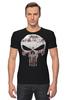 "Футболка Стрэйч (Мужская) ""The Punisher"" - skull, череп, касл, marvel, антигерой, палач, punisher, каратель, фрэнк касл"