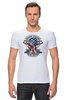 "Футболка Стрэйч (Мужская) ""Skull Art"" - череп, free, американский флаг, american flag, череп и кости"