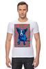 """Футболка Стрэйч (Мужская) """"Синий Пес"""" - любовь, сердца, собака, синий пес, blue dog"""