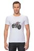 "Футболка Стрэйч (Мужская) ""Мотоцикл"" - мотоцикл, bike"