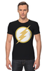 """Футболка Стрэйч """"Flash (Молния)"""" - flash, молния, флэш"""