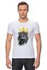 """Футболка Стрэйч (Мужская) """"Король Лев"""" - животные, корона, лев, царь зверей"""