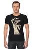 """Футболка Стрэйч (Мужская) """"Девушка с черепом оленя"""" - skull, череп, арт, девушка, animal, deer"""