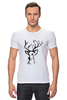 "Футболка Стрэйч (Мужская) ""dear deer"" - графика, олень, deer, tseart"