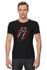 """Футболка Стрэйч (Мужская) """"The Rolling Stones"""" - музыка, любовь, rock, логотип, язык, рок-н-ролл, rolling stones, фан, the rolling stones"""