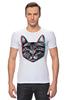 """Футболка Стрэйч (Мужская) """"Кот 3D"""" - кот, cat, 3d"""