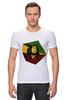 """Футболка Стрэйч (Мужская) """"Bob Marley"""" - регги, ямайка, боб марли, bob marley, reggae, боб, ска, марли"""