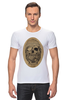 """Футболка Стрэйч (Мужская) """"с черепом"""" - skull, череп, скелет, с черепом, хипстер, пират, hipster, sailor, старый моряк"""