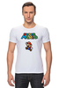 "Футболка Стрэйч (Мужская) ""Super Mario"" - mario, dendy, марио, mario bros, 8bit"