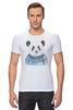 """Футболка Стрэйч (Мужская) """"Панда"""" - панда, panda"""