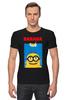 "Футболка Стрэйч (Мужская) ""Banana "" - banana, миньон, гадкий я, minion"