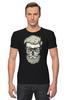 "Футболка Стрэйч ""Череп Хипстера"" - skull, череп, хипстер, усы, hipster"