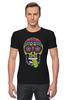 "Футболка Стрэйч (Мужская) ""Череп ""Рок-н-Ролл"""" - skull, череп, mexican skull"