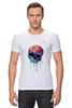 "Футболка Стрэйч (Мужская) ""Bleeding skull"" - skull, череп, apple"