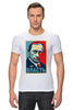 "Футболка Стрэйч ""Путин, Власть"" - россия, russia, президент, obey, putin"