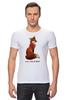 """Футболка Стрэйч (Мужская) """"Лисичка"""" - fox, лиса, лисичка, i am a fox"""