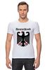 """Футболка Стрэйч (Мужская) """"Германия"""" - страны, герб, символика, германия"""