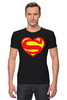 "Футболка Стрэйч (Мужская) ""Я люблю Супермена"" - супермен, комиксы, superman, супергерои"