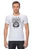 """Футболка Стрэйч """"Череп индейца"""" - череп, индеец, перья, череп индейца, череп с перьями"""