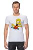 "Футболка Стрэйч (Мужская) ""The Simpsons"" - симпсоны, the simpsons, барт, барт симпсон"