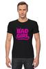 """Футболка Стрэйч """"Bad girl (Плохая девченка)"""" - bad, girl, bad girl, плохая девочка"""