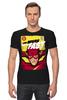 "Футболка Стрэйч ""Супергерой Флэш"" - flash, комиксы, супергерои, молния, флэш"