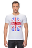 "Футболка Стрэйч ""Skull Art"" - skull, uk, британский флаг, череп, british flag"