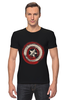 """Футболка Стрэйч (Мужская) """"Captain America"""" - комиксы, супергерой, marvel, капитан америка, captain america"""
