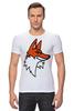 """Футболка Стрэйч """"Лис"""" - авторские майки, fox"""