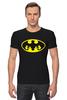 """Футболка Стрэйч (Мужская) """"Бэтмен (Batman)"""" - batman, бэтмен"""
